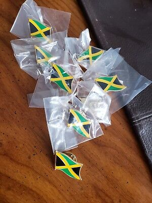 8 Jamaica NATIONAL COUNTRY WORLD FLAG LAPEL PINs NOS Collectible Hat Work