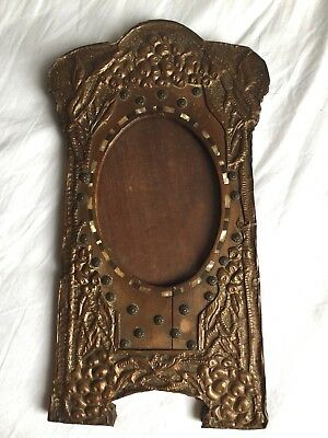Arts And Crafts Art Deco Nouveau Photo Frame Copper Mother Of Pearl