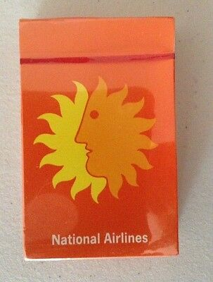 Sealed NATIONAL AIRLINES Playing Cards Deck of Cards Sun Logo Vintage Miami