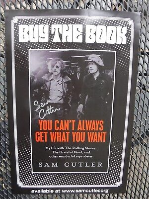 The Rolling Stones/Grateful Dead-SAM CUTLER IN PERSON SIGNATURE-BOOK TOUR POSTER