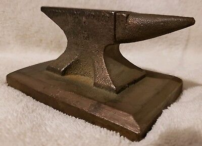 Vintage International Harvester McCormick Anvil Cast Brass Jeweler Embossed 3lbs