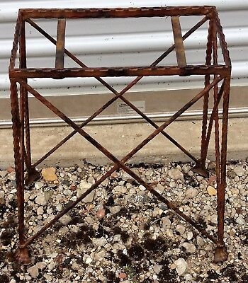 Vintage Small Metal Plant / Fish Tank Bowl Stand