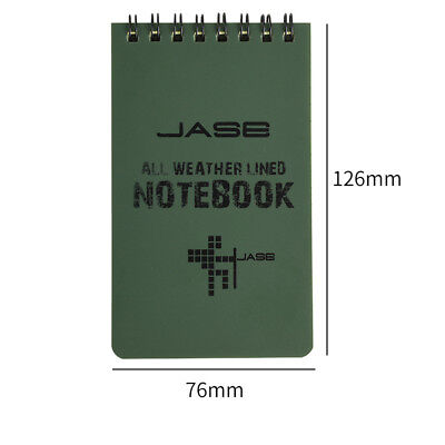 WATERPROOF NOTEBOOK ALL WEATHER MILITARY - 50 PAGE 12.6 X 7.6CM New