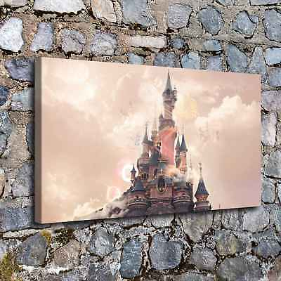 Disney Castle HD Canvas prints Painting Room Home Decor Picture Wall art Poster