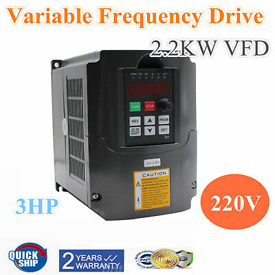 2.2Kw 3Hp 10A Cnc 220V Variable Frequency Drive Inverter Vfd Speed Control De