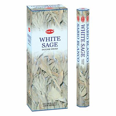 White Sage Scent Hem Bulk Incense Box 120 Sticks Hand Rolled Made in India