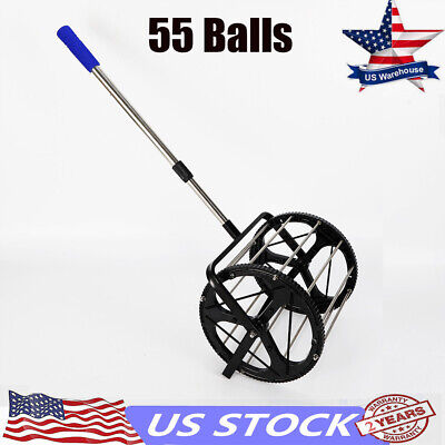 Tennis Ball Picker Hopper Retriever Mower Collector for 55 Tennis balls US Stock