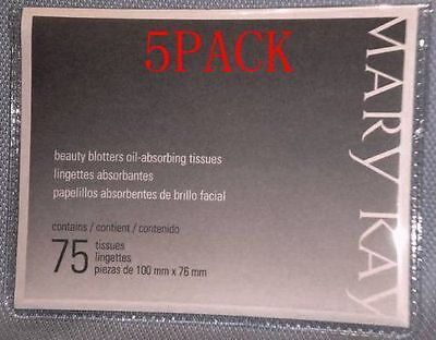 5 Pack Brand New Mary Kay Beauty Blotters Oil-absorbing Tissues
