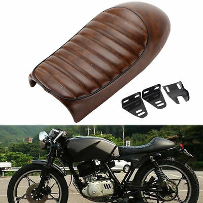 Motorcycle Cafe Racer Hump Cushion Seat Saddle for Kawasaki Yamaha Honda Suzuki