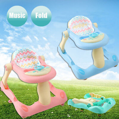 3 In 1 Multi Functional Baby Push Walker Entertainment Musical Sit & Play Table