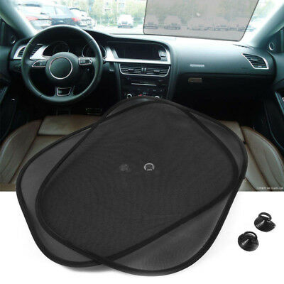 2PCS Car Side Front Rear Window Sun Shade Mesh Cover Sunshade UV Protector NEW