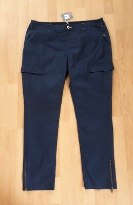 c5430e30325 Ladies Cropped Joules navy blue Trousers size 16 18 BNWT