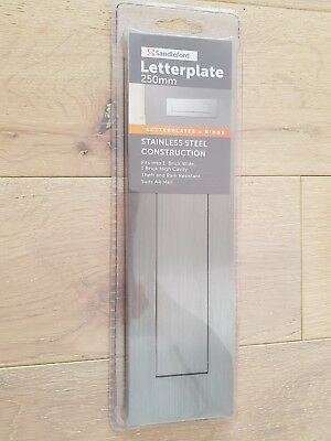 Brushed Stainless steel Letter plate 250mm