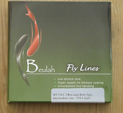 Beulah UK Style 7/8 Long Belly Intermediate Fly Fishing Line over 50% discount