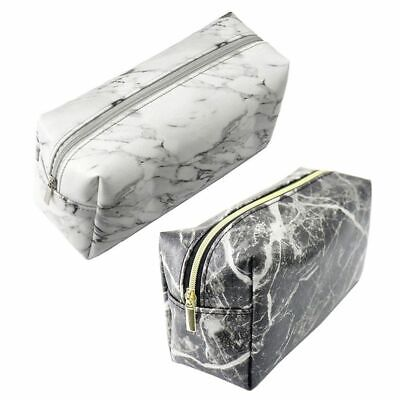 Marble Grain Large School Student Stationery Pencil Case Make up Cosmetics Bag