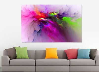 Modern Abstract Bright colorful Love Painting Canvas Print wall art home decor