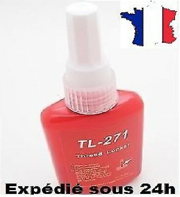 """Frein filet 271  rouge """"Extra Fort""""  50ml Stock Fr equivalent gamme Loctite"""
