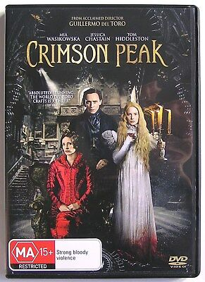 CRIMSON PEAK (2015) DVD MOVIE Mia Wasikowska, Jessica Chastain, Tom Hiddleston