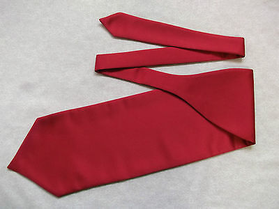 Ascot Cravat MENS Wedding Scrunchie Ruche One Size RED WINE