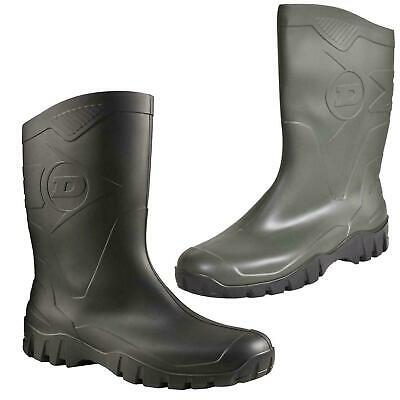 Dunlop DEE Men Women Wellington Boots Calf Wellies Rain Mucker Snow Waterproof