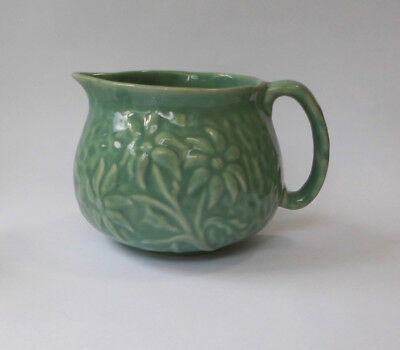 Green pottery jug, vintage, approx 9.5cm tall