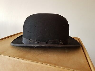 Vintage G A Dunn   Co The Perfectus Felt Bowler Hat Black Collectable The  Strand 79d8254b8d8b