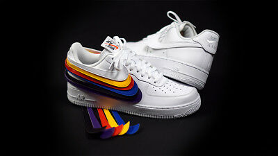 low priced bfd05 d5e1f Nike Air Force 1 QS Swoosh Pack Velcro af1 White Blanc AH8462-102 Off all