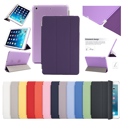 "Magnetic Smart Leather Stand Case Cover Fits Apple iPad 5th Generation 9.7"" 2017"