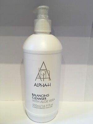 Alpha-H Triple Action Cleanser with Aloe Vera, Supersize 500ml New & Sealed