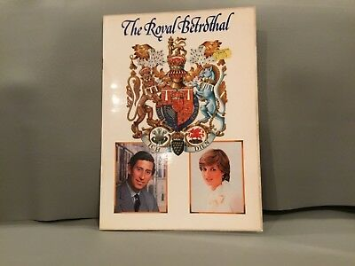 The Royal Betrothal DIANA CHARLES Book with price tag from St Paul's Cathedral