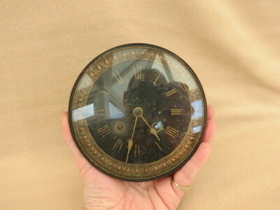 Large Antique French Striking Clock Movement Dial Hands For Spares Repair