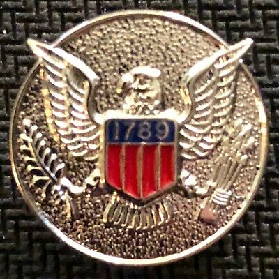 USMS - US Marshals Service 3/4in badge center VERY RARE silver lapel Pin