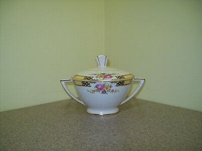 Vintage Edwin M. Knowles Semi Vitreous 40-9 Sugar Bowl w/Lid