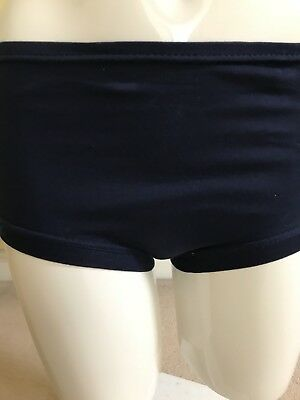 Vintage School Knickers Panties Navy Blue Age 9-12