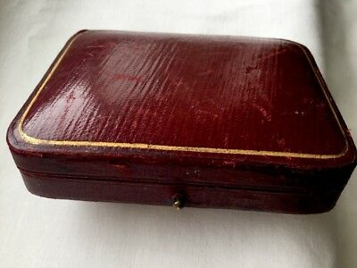 FINE ANTIQUE VINTAGE FINNEGANS LEATHER JEWELLERY BOX CASE 1920s BROOCH/PINS/LINK