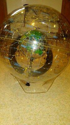 Rare Farquhar Earth In Space Transparent Globe Celestial Astronomy Map