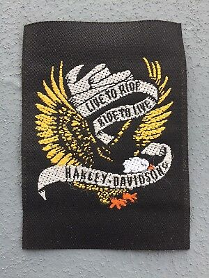 "NEW Harley Davidson Motorcycles Patch - ""Live to Ride, Ride to Live HD"""