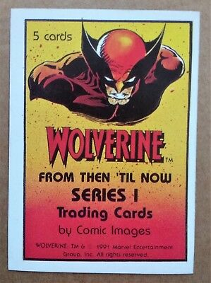 1991 Comic Images Wolverine From Then 'Til Now Series 1 Header card / sticker