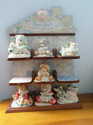 ENESCO CALICO KITTENS Lot Of 9 With Purr-fect Personalities Display Shelf 1 NIB