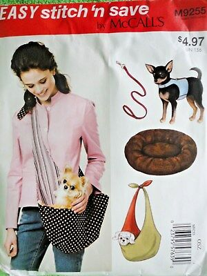 McCall's Pet Harness, Leash, Carrier & Bed For Small Dogs Uncut Sewing Pattern
