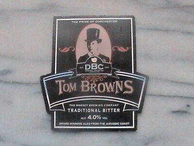 Dorset Tom Browns Traditional bitter real ale beer pump clip sign