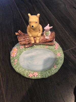 SPRINGS Classic WINNIE THE POOH Ceramic SOAP DISH For BATHROOM Set EXCELLENT!