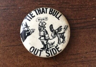Teddy Theodore Roosevelt Rough Rider Bull Moose Party Pinback Button Pin