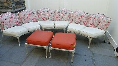 Vintage Woodard Patio Furniture Set - Wrought iron Made in Owosso Michigan