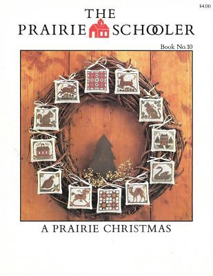 "1985 Book No. 10-""a Prairie Christmas""-Ps-""trifold""-Htf-Oop-Cross Stitch Pattern"