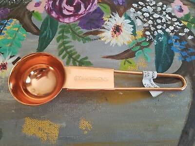 Starbucks Copper Coffee Scoop 2 Tbs Rose Gold Tone New