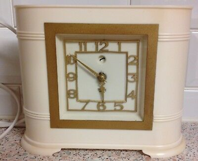 Vintage Smiths Electric (Sec) Mantel Clock - Art Deco