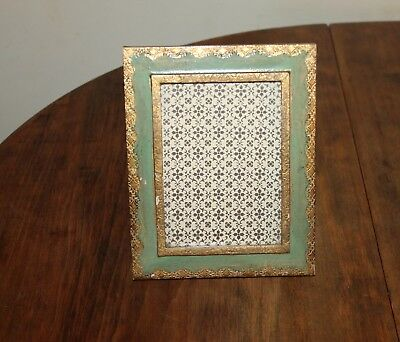 "Vintage Florentine Picture Frame 4"" x 5 1/2"" Gilt Wood Hand Made In Italy"