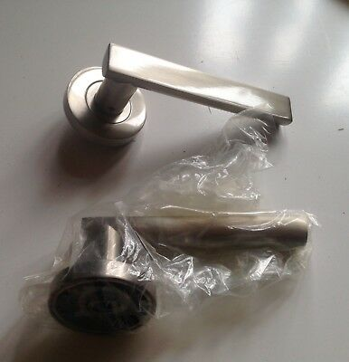 Stainless Steel Door Handles Sold Set Brushed Chrome Internal Door Handle