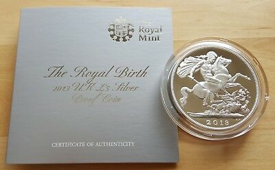 2013 UK Royal Mint - Royal Birth (George) £5 Silver Proof Coin